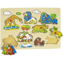 Bigjigs Puzzle - Animale din salbaticie