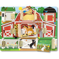Melissa & Doug Puzzle magnetic Ascunde si descopera - 9 piese