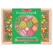 Melissa & Doug Set margele din lemn Flower Power