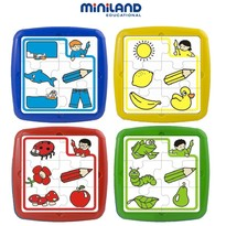 Miniland Set de 4 puzzle educative