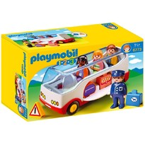 Playmobil 1.2.3 - Set figurine Autobuz transport aeroport