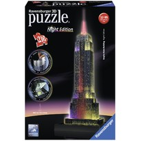 Ravensburger Puzzle 3D Empire State Building  lumineaza noaptea - 216 Piese