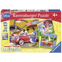Ravensburger Puzzle clubul Mickey Mouse - Set 3 puzzle-uri cu 49 Piese