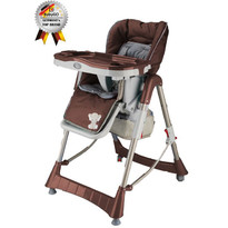 BabyGO Scaun de masa Tower Maxi Brown