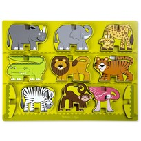 Melissa & Doug Puzzle in relief  - animale de la Zoo