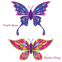 Set 2 bucati Fluturasul magic - Rainbow Wing si Purple Queen