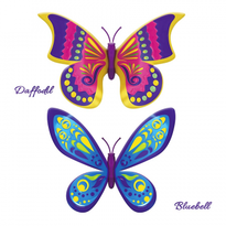 Set 2 bucati Fluturasul magic - Daffodil si Bluebell