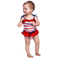 Swimpy Costum de baie SeaLife red marime XL