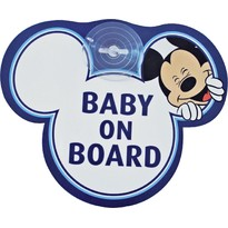 Semn de avertizare Baby on Board Mickey