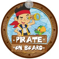 Semn de avertizare Pirate on Board Jake