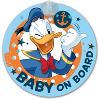 Semn de avertizare Baby on Board Donald Duck