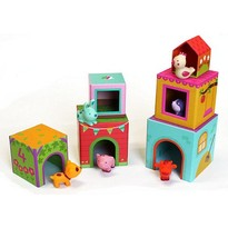 Djeco Set de construit - Casuta animalelor
