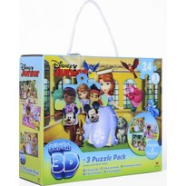 Sambro Set 3 jocuri de puzzle 3D Disney Junior