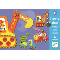 Djeco Puzzle duo mobil  vehicule
