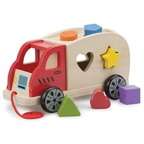 New Classic Toys Camion Shape Sorter cu 6 forme