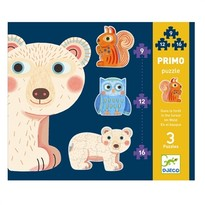 Djeco Set Puzzle-uri evolutive animale