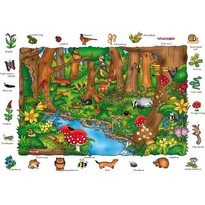 Orchard Toys Puzzle in limba engleza - In padure 150 piese