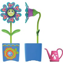 Silverlit Set floare Magic Bloom si gandacel, cu ghiveci albastru