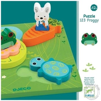 Djeco Puzzle relief 1,2,3 froggy