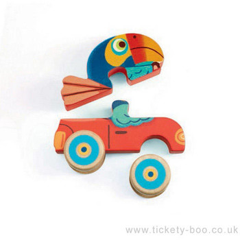 Djeco Figurine Puzzle Pachy & Co