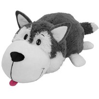 Jay At Play Mascota FlipaZoo 32 cm - Catel Husky si Urs Polar