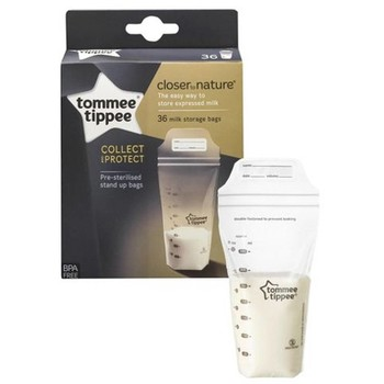 Tommee Tippee Pungi de stocare lapte matern Closer to Nature 36 buc