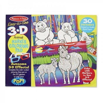 Melissa & Doug Caiet de colorat 3D - Animale