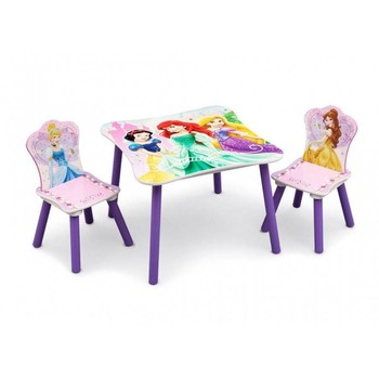 Delta Children Set masuta si 2 scaunele Disney Princess Friendship