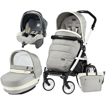 Peg Perego Carucior 3 In 1 Book Plus 51, Black and White, Completo Elite