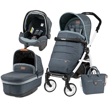 Peg Perego Carucior 3 In 1 Book Plus 51, Black and White, POP-UP Elite
