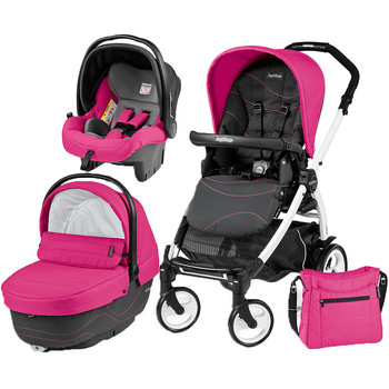 Peg Perego Carucior 3 In 1 Book Plus 51, Black and White, Sportivo Bloom
