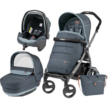 Peg Perego Carucior 3 In 1 Book Plus 51, Black, Completo Elite
