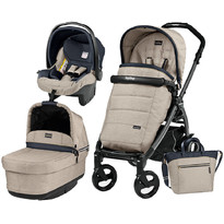 Peg Perego Carucior 3 In 1 Book Plus 51, Black, POP-UP Elite