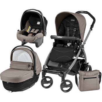 Peg Perego Carucior 3 in 1 Book Plus 51, Black, Sportivo Bloom