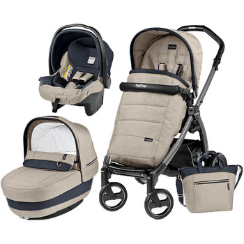Peg Perego Carucior 3 In 1 Book Plus S, Black, Completo Elite