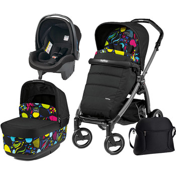 Peg Perego Carucior 3 In 1 Book Plus S, Black, Pop-Up Elite