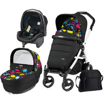Peg Perego Carucior 3 in 1 Book Plus 51 S, Black and White, Completo Elite