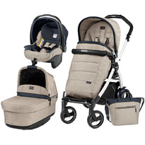 Peg Perego Carucior 3 in 1 Book Plus 51 S, Black and White, Pop-Up Elite