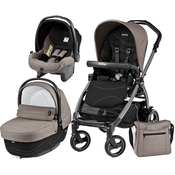 Peg Perego Carucior 3 in 1 Book Plus 51 S, Black, Sportivo Bloom