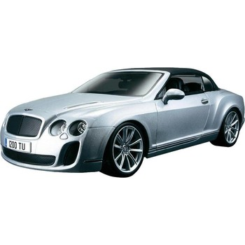 Bburago Bentley Continental Supersports Convertible - Argintiu - 1:18