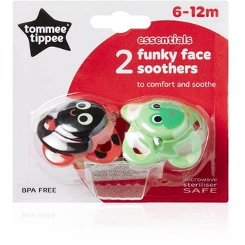Tommee Tippee Suzete Funky Face 6-12 luni, 2 buc