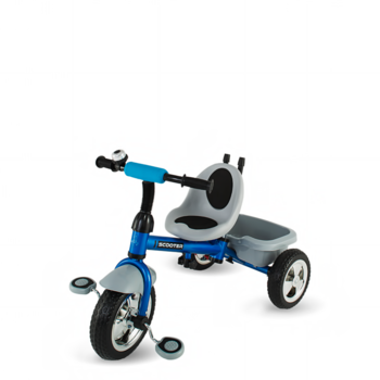 DHS Baby Tricicleta Scooter Plus multifunctionala albastru