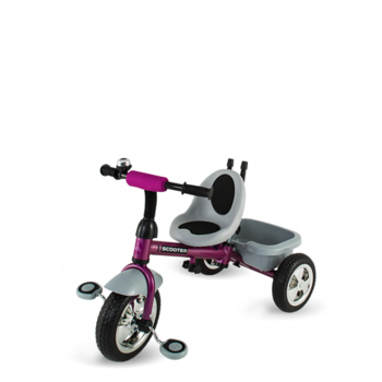 DHS Baby Tricicleta Scooter Plus multifunctionala mov