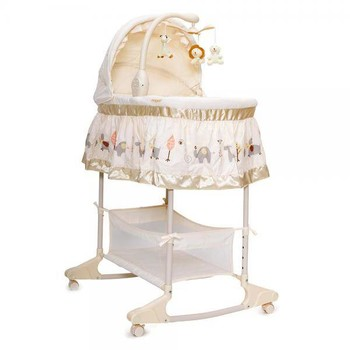 Moni Leagan cu landou 3 in 1 Bassinet Nap Beige
