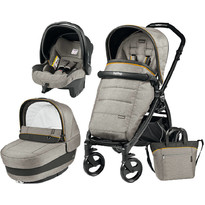 Peg Perego Carucior 3 in 1, Book Plus, Black Matt, Completo Elite