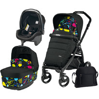 Peg Perego Carucior 3 in 1, Book Plus, Black Matt, Pop-Up Elite