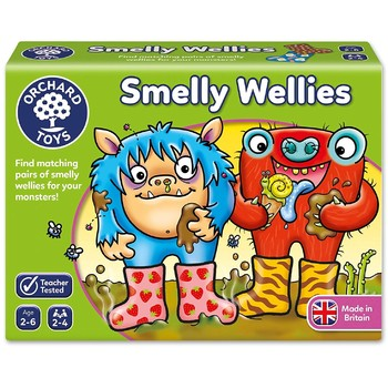 Orchard Toys Joc educativ - Cizmulitele de Cauciuc Smelly Wellies