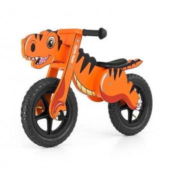 MillyMally Bicicleta fara pedale Dino Orange