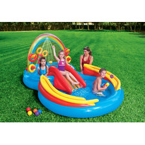 Intex Piscina copii Rainbow Ring Play Center