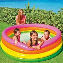 Piscina copii Sunset Glow Pool 4 inele 168 x 46 cm